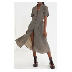 NEW Urban Outfitters Button Down Midi Shirt Dress